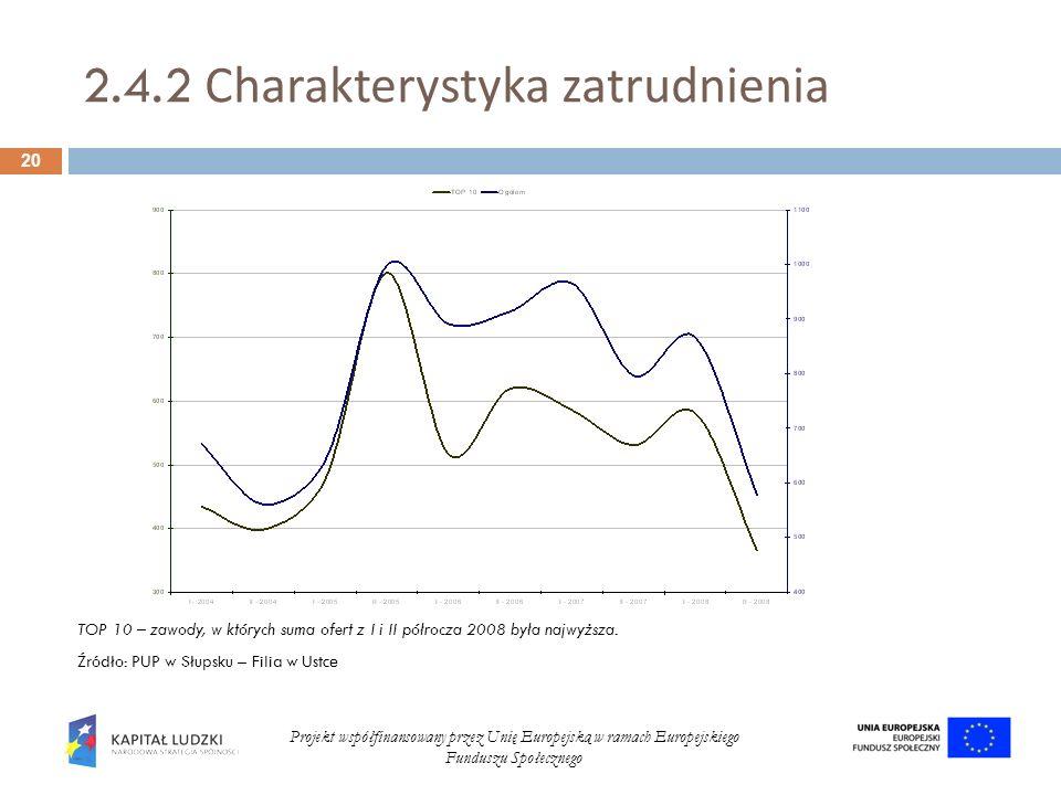 2.4.2 Charakterystyka zatrudnienia