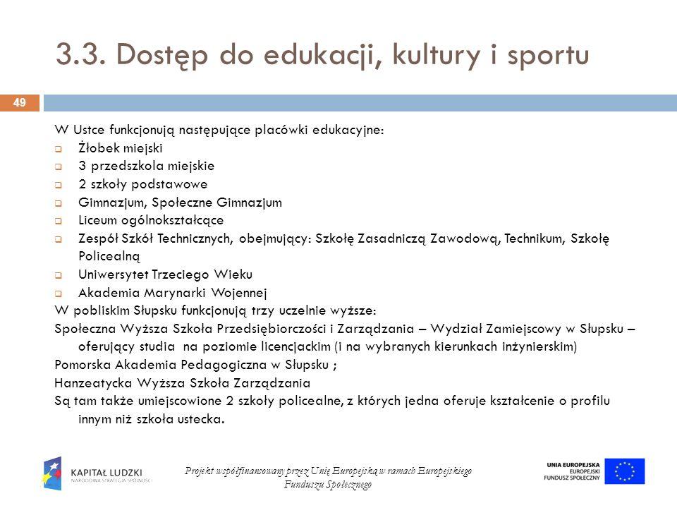 3.3. Dostęp do edukacji, kultury i sportu