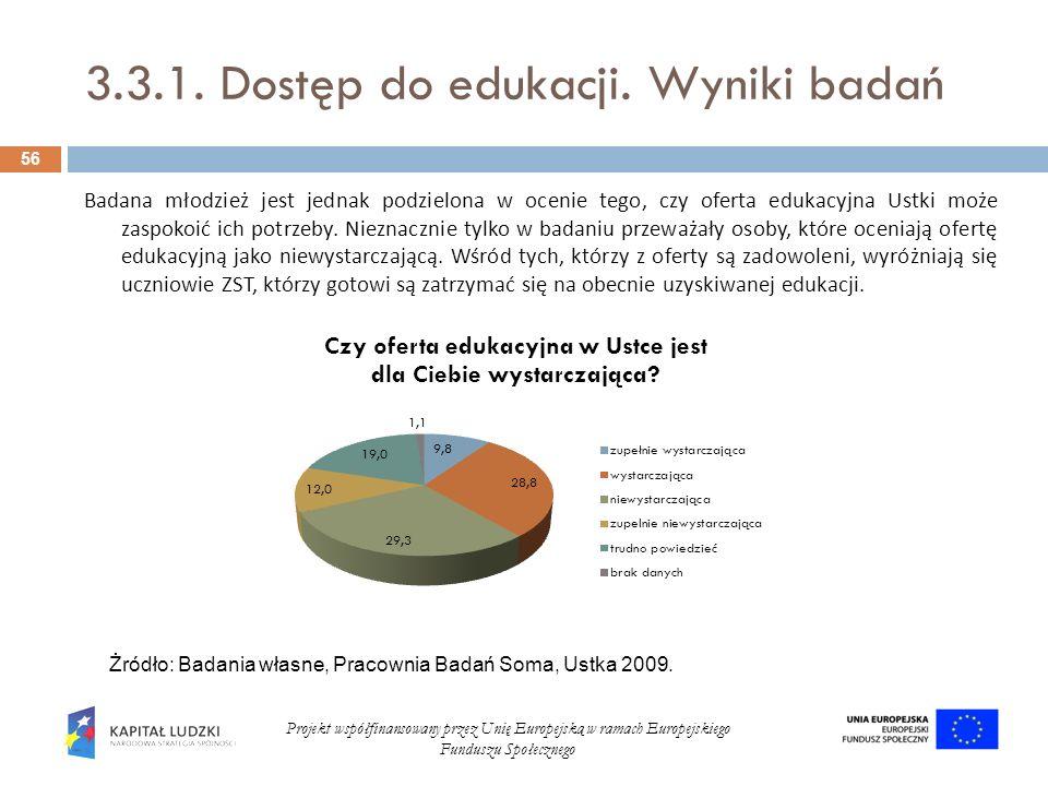 3.3.1. Dostęp do edukacji. Wyniki badań