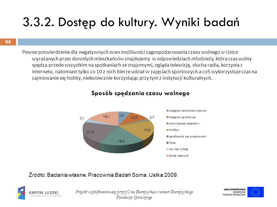 3.3.2. Dostęp do kultury. Wyniki badań