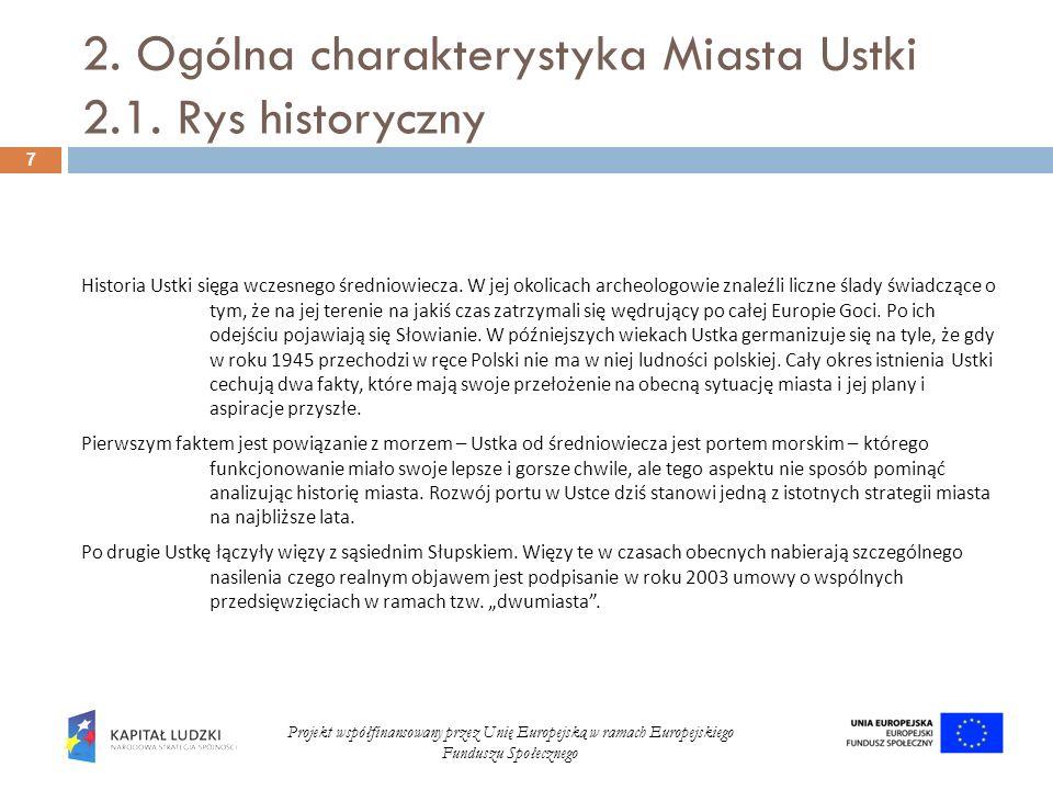 2. Ogólna charakterystyka Miasta Ustki 2.1. Rys historyczny