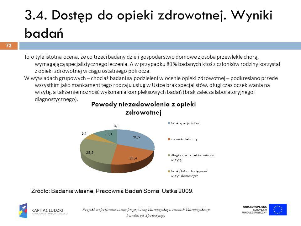 3.4. Dostęp do opieki zdrowotnej. Wyniki badań