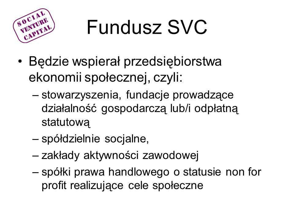Fundusz SVC Będzie wspierał przedsiębiorstwa ekonomii społecznej, czyli: