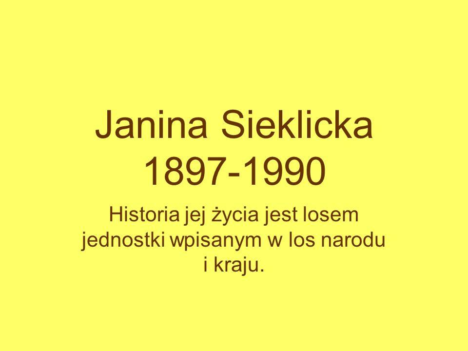 Historia jej życia jest losem jednostki wpisanym w los narodu i kraju.