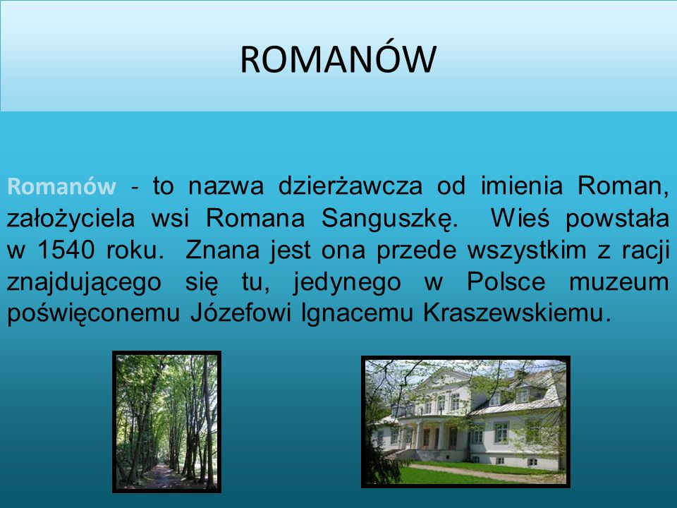 ROMANÓW