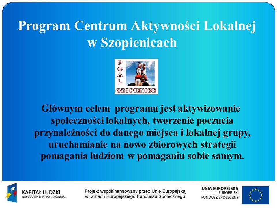 Program Centrum Aktywności Lokalnej w Szopienicach