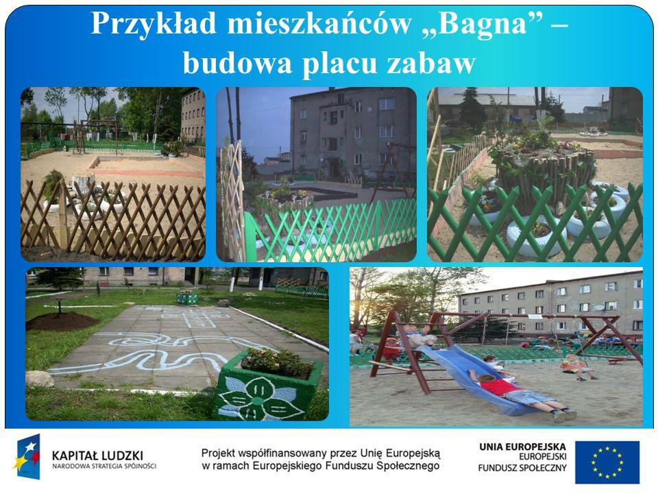 """Przykład mieszkańców """"Bagna – budowa placu zabaw"""
