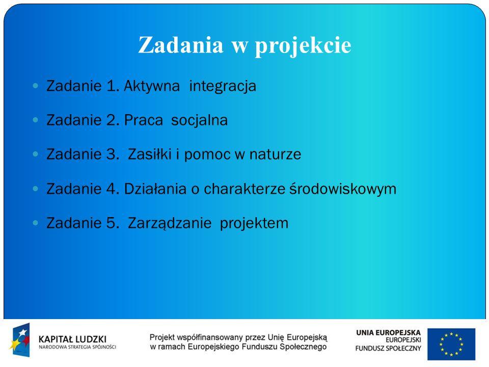 Zadania w projekcie Zadanie 1. Aktywna integracja