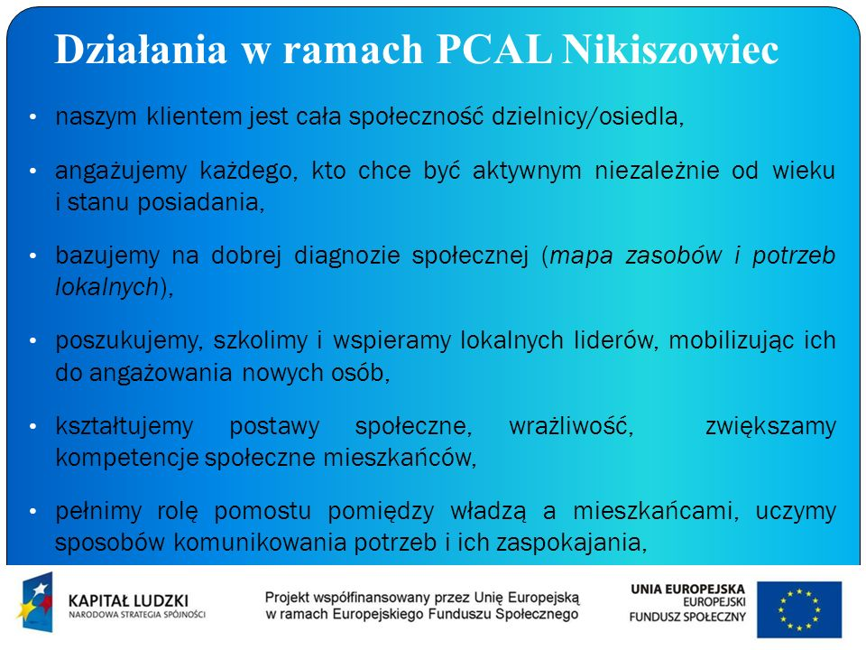 Działania w ramach PCAL Nikiszowiec