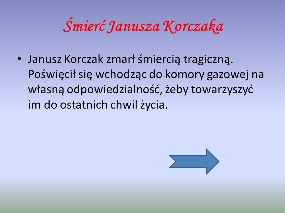 Śmierć Janusza Korczaka