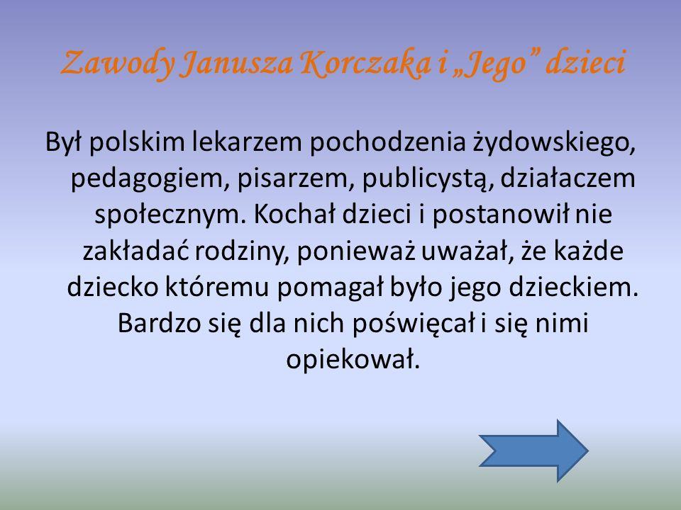 """Zawody Janusza Korczaka i """"Jego dzieci"""