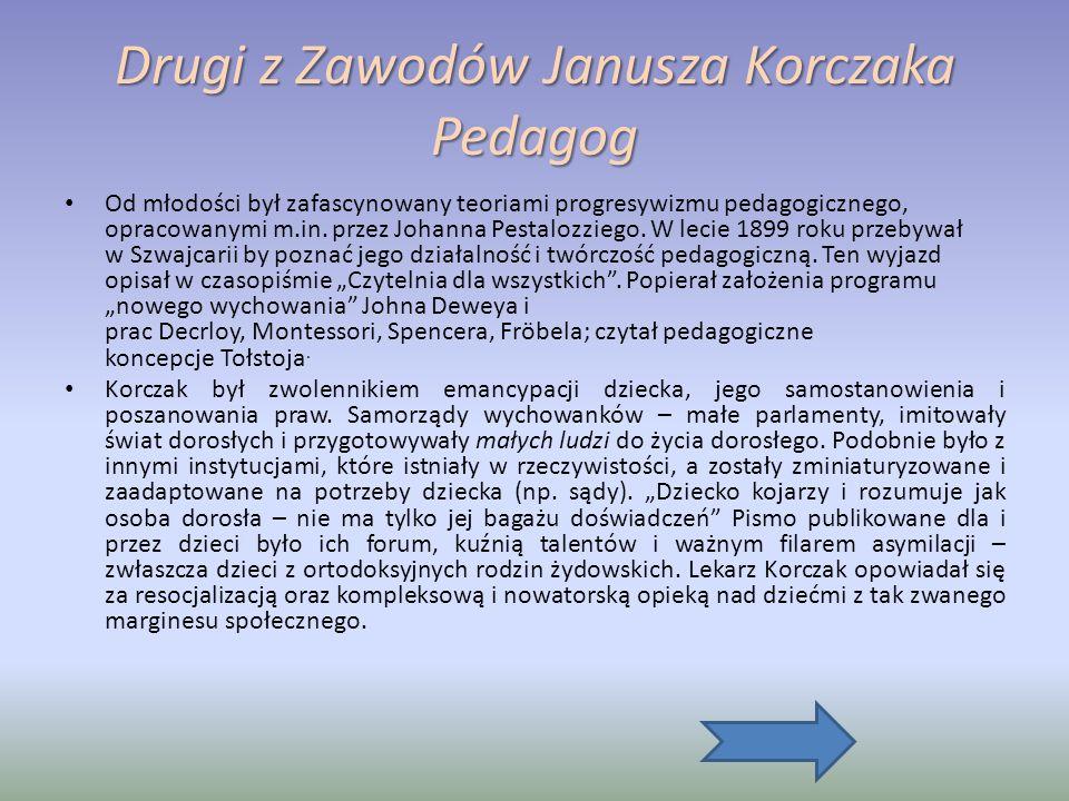 Drugi z Zawodów Janusza Korczaka Pedagog
