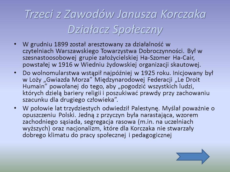 Trzeci z Zawodów Janusza Korczaka Działacz Społeczny