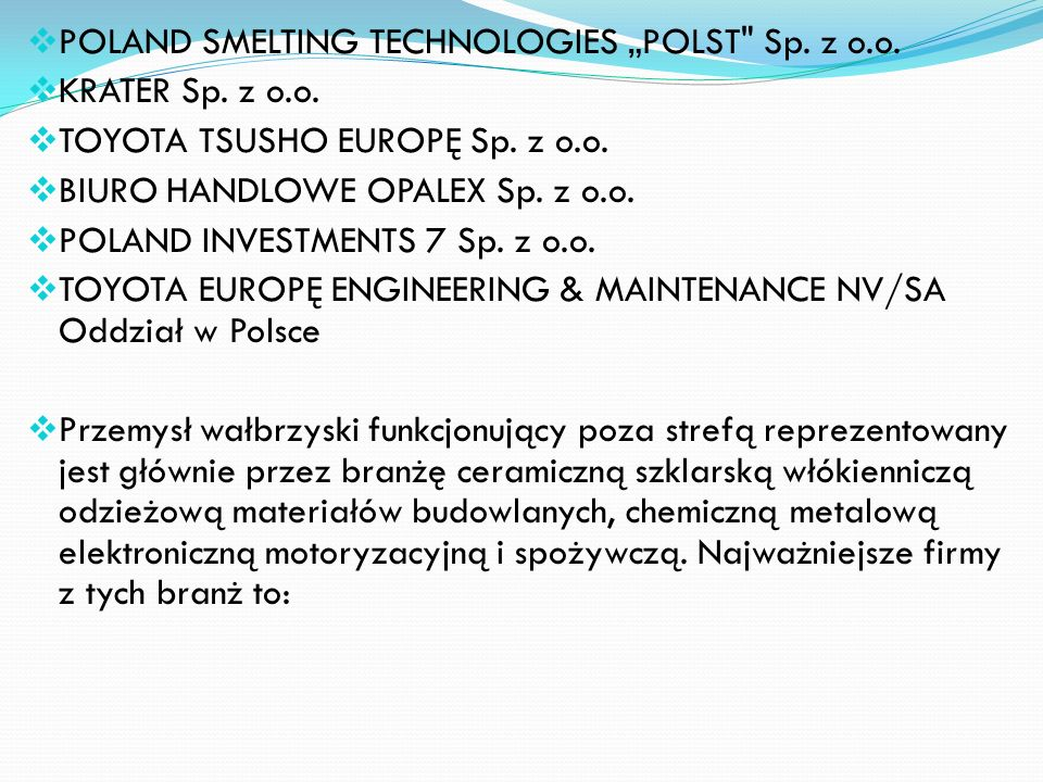 "POLAND SMELTING TECHNOLOGIES ""POLST Sp. z o.o."