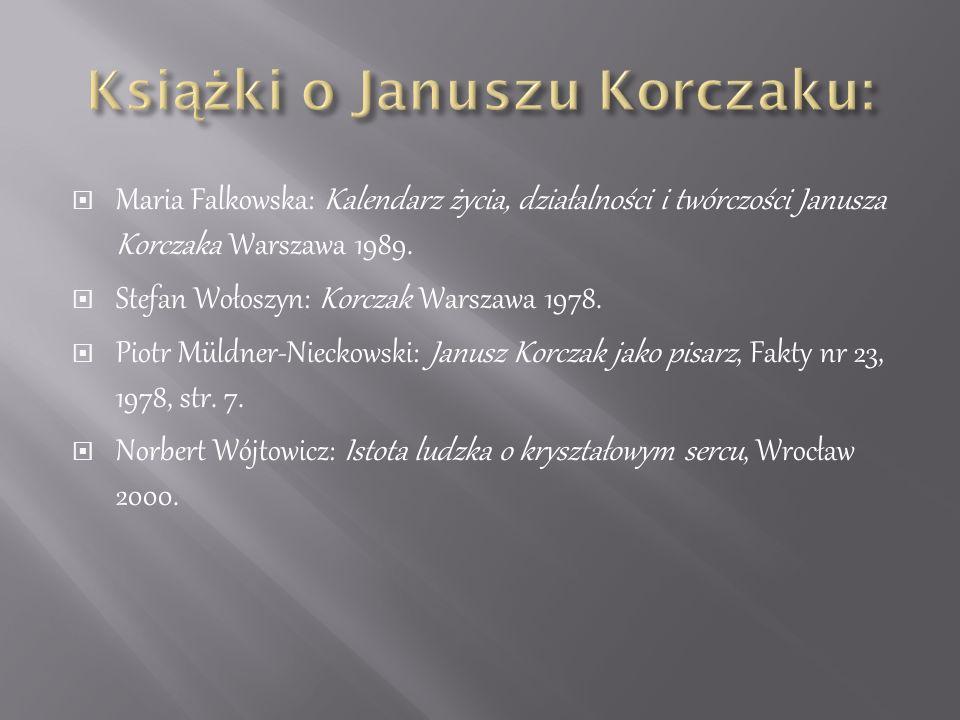Książki o Januszu Korczaku: