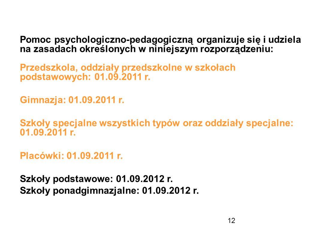 Pomoc psychologiczno-pedagogiczną organizuje się i udziela na zasadach określonych w niniejszym rozporządzeniu: