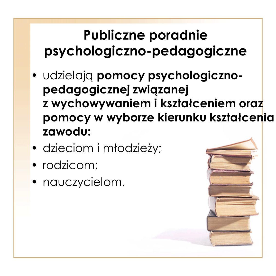 Publiczne poradnie psychologiczno-pedagogiczne