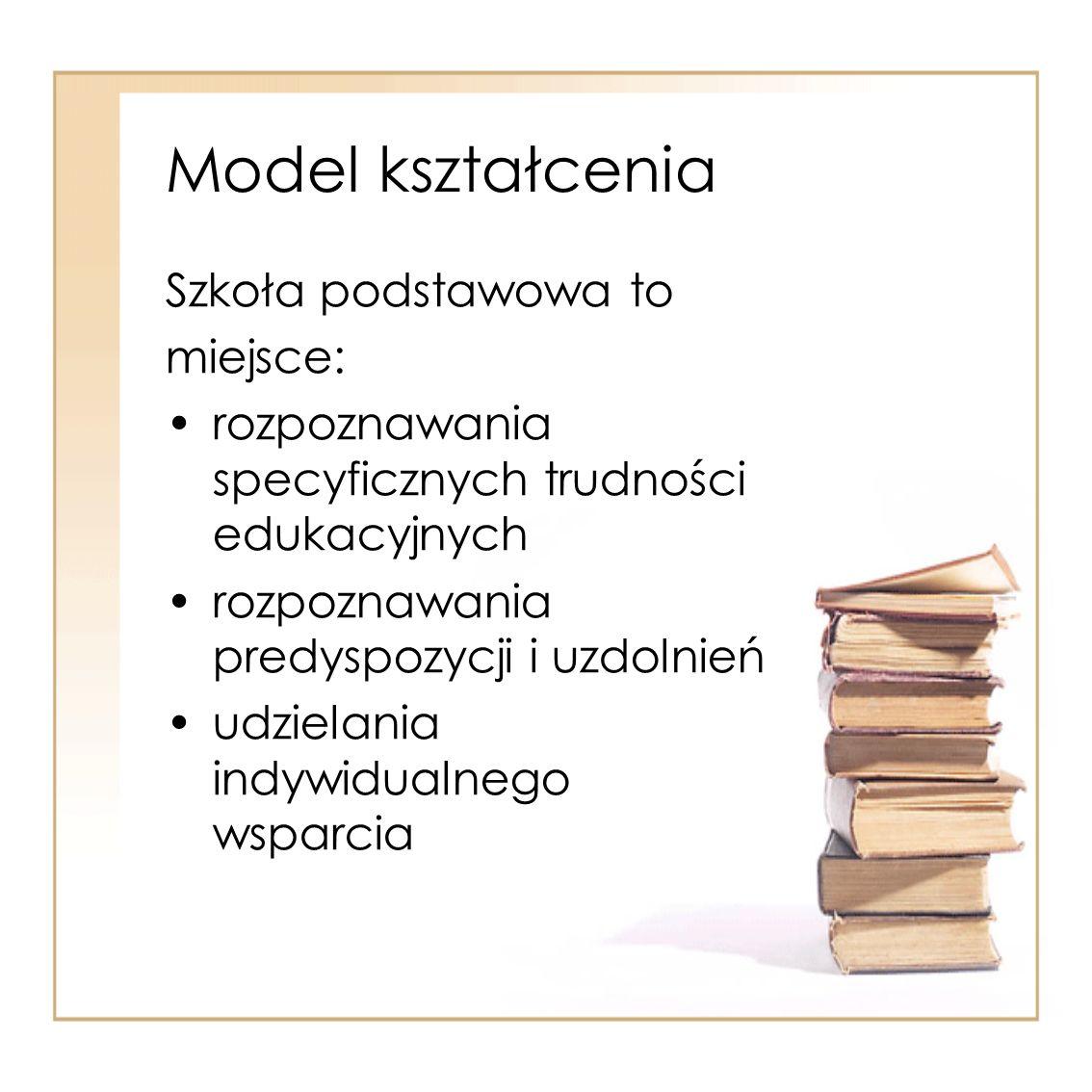 Model kształcenia Szkoła podstawowa to miejsce: