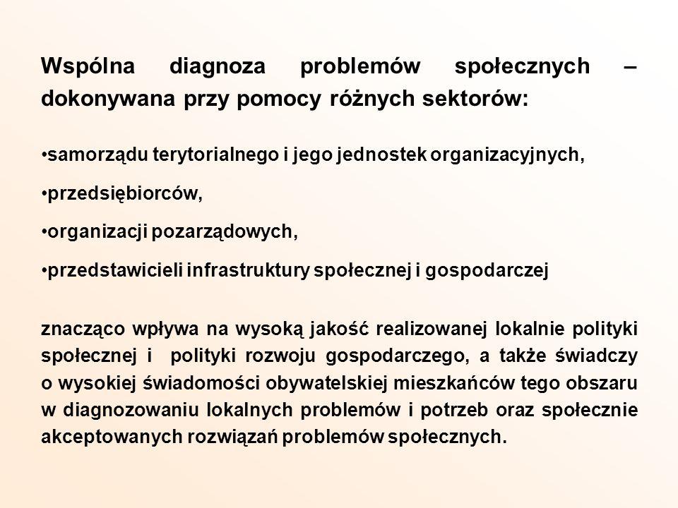 Wspólna diagnoza problemów społecznych – dokonywana przy pomocy różnych sektorów:
