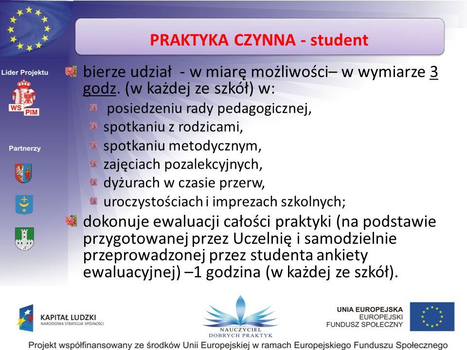PRAKTYKA CZYNNA - student