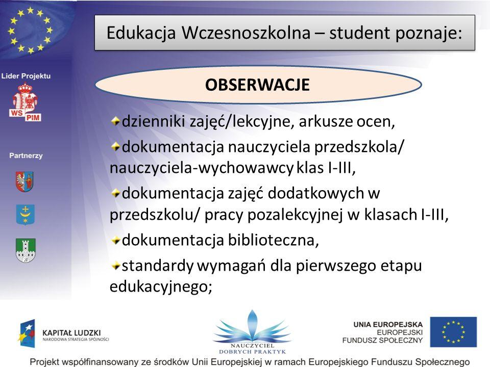 Edukacja Wczesnoszkolna – student poznaje: