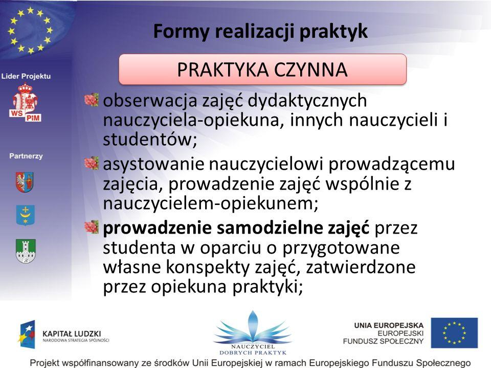 Formy realizacji praktyk