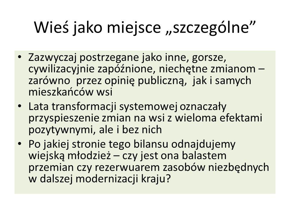 """Wieś jako miejsce """"szczególne"""
