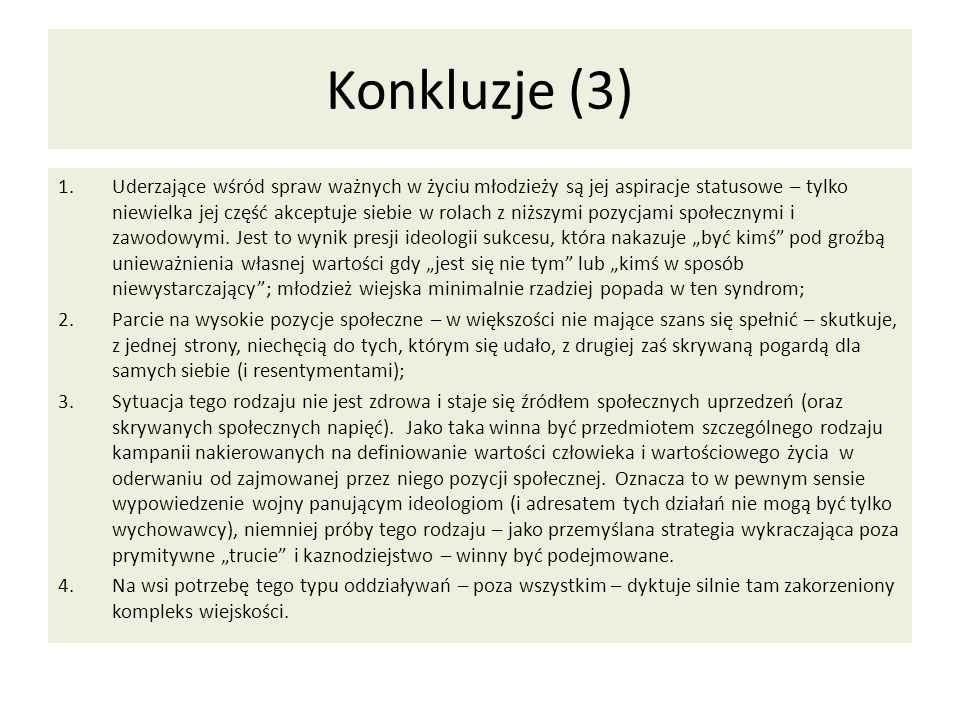 Konkluzje (3)