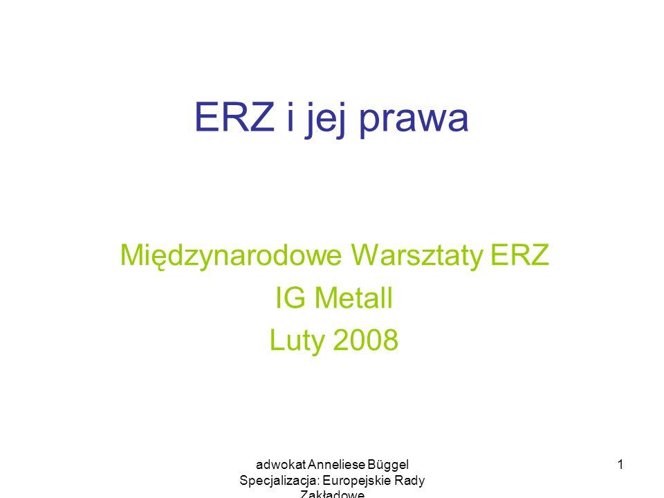 Międzynarodowe Warsztaty ERZ IG Metall Luty 2008