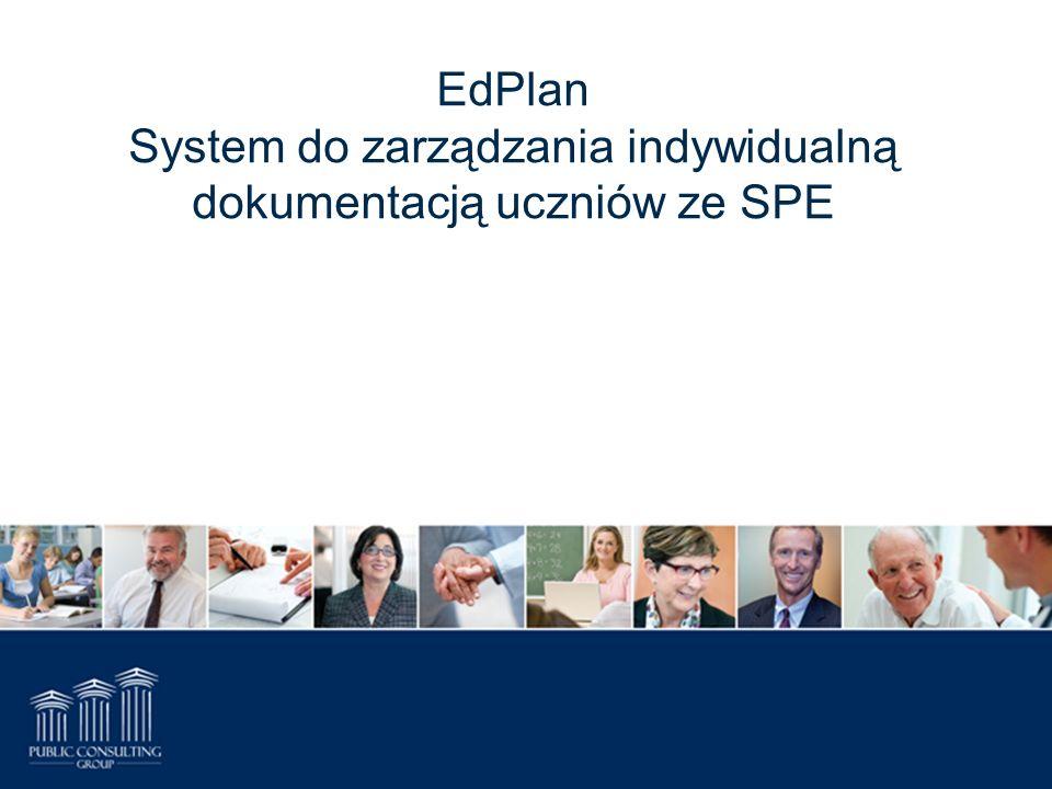 EdPlan System do zarządzania indywidualną dokumentacją uczniów ze SPE