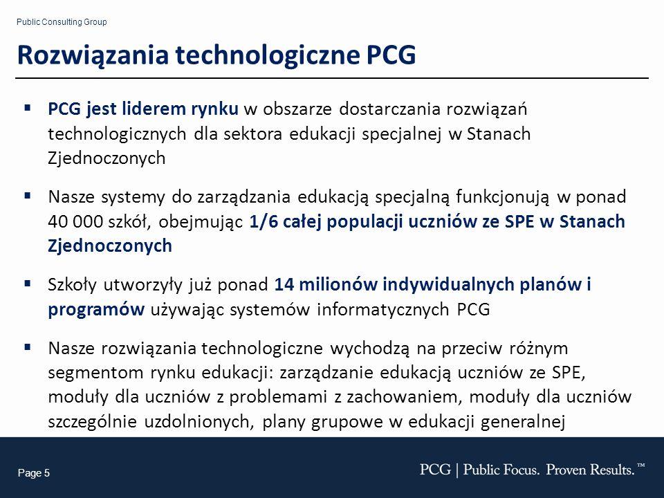 Rozwiązania technologiczne PCG