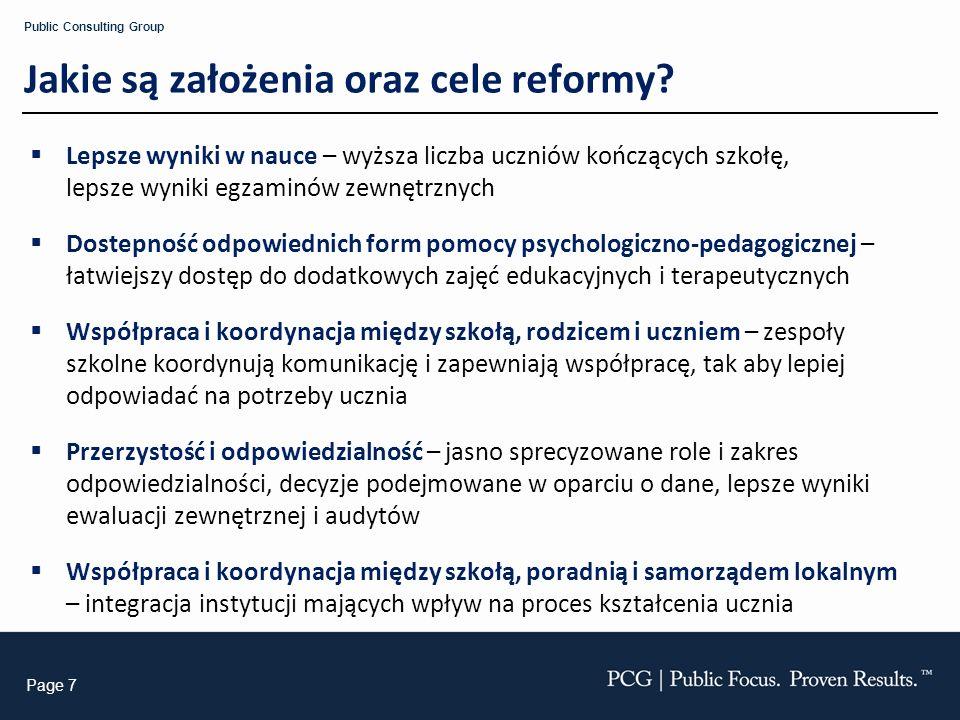 Jakie są założenia oraz cele reformy