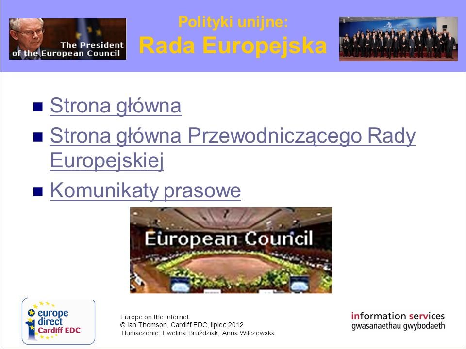Rada Europejska Strona główna
