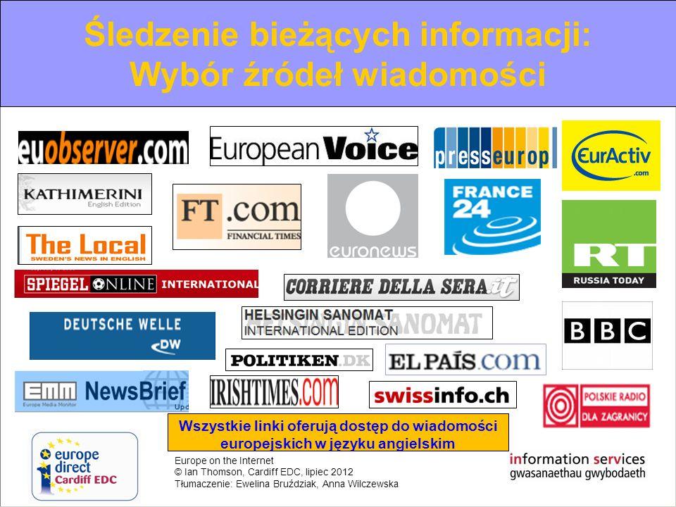 Śledzenie bieżących informacji: Wybór źródeł wiadomości