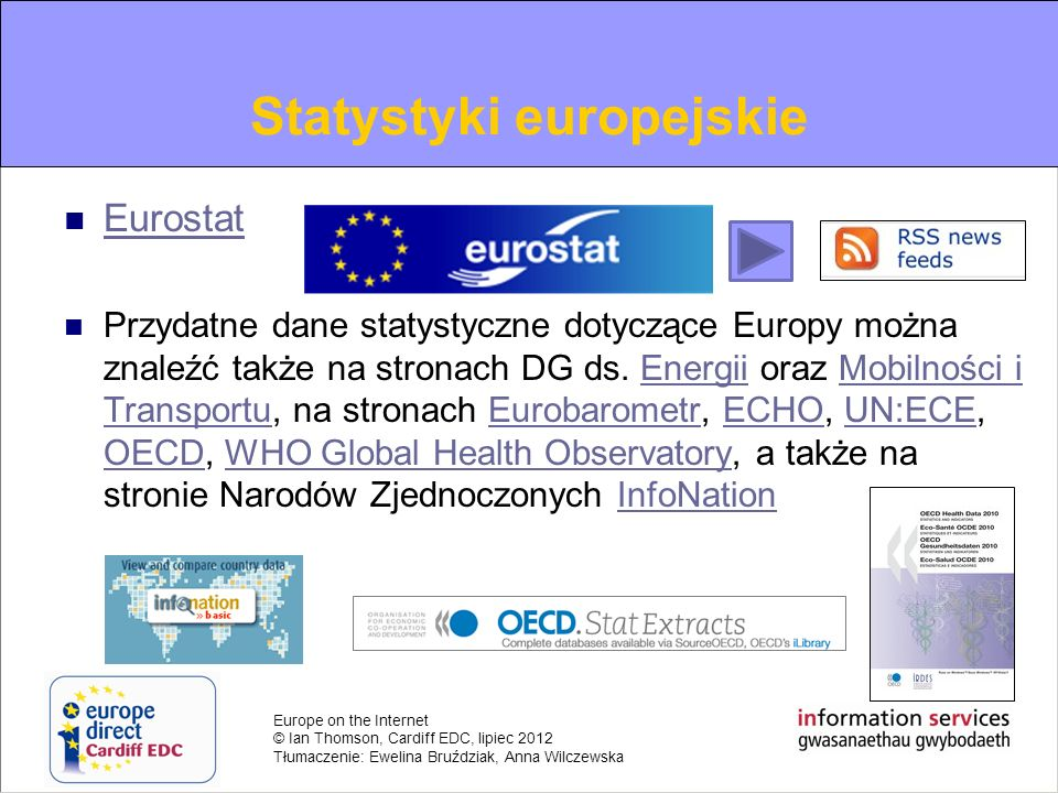 Information on European Statistics