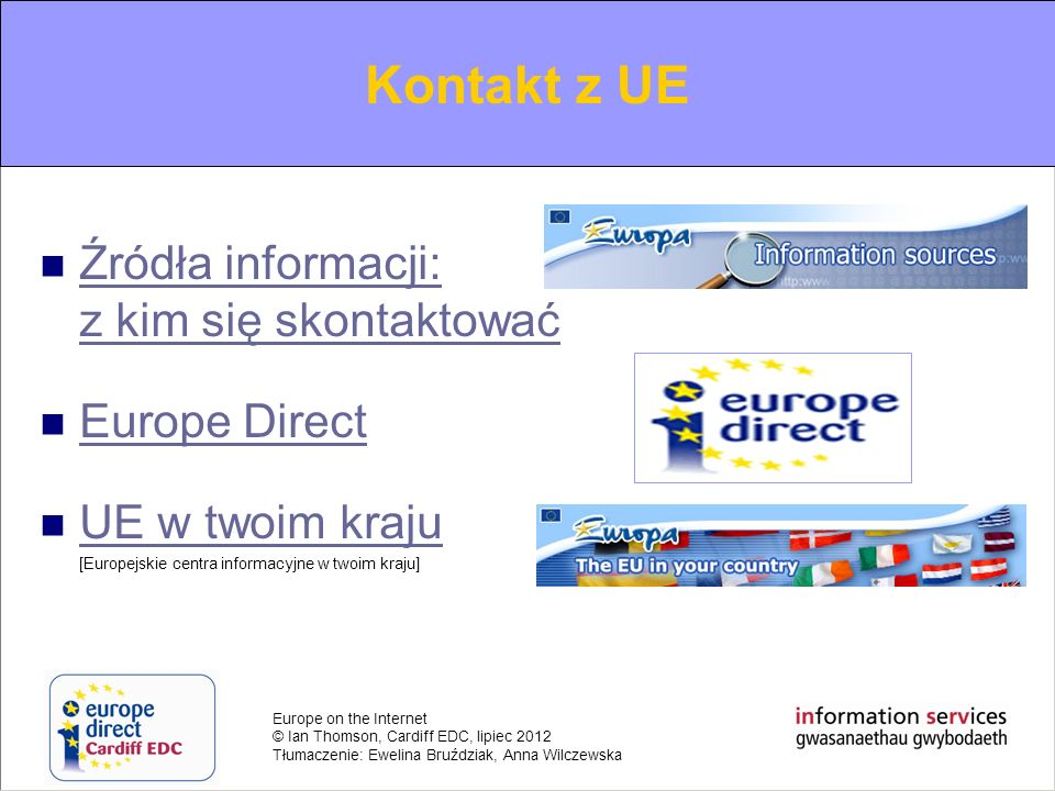 Contacting the EU Kontakt z UE