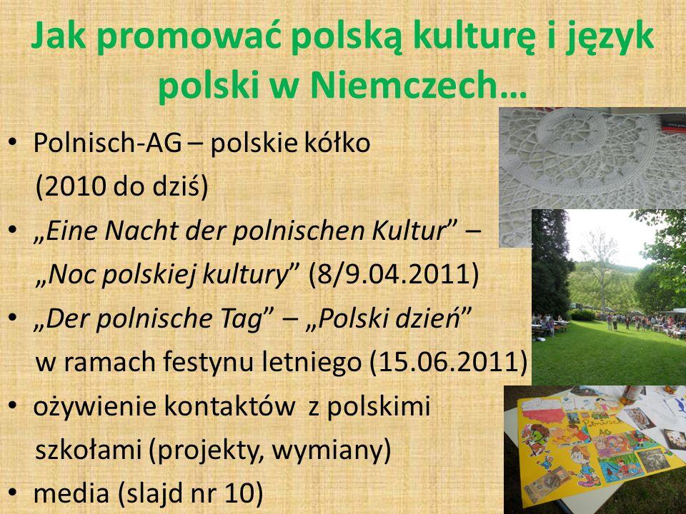 Jak promować polską kulturę i język polski w Niemczech…