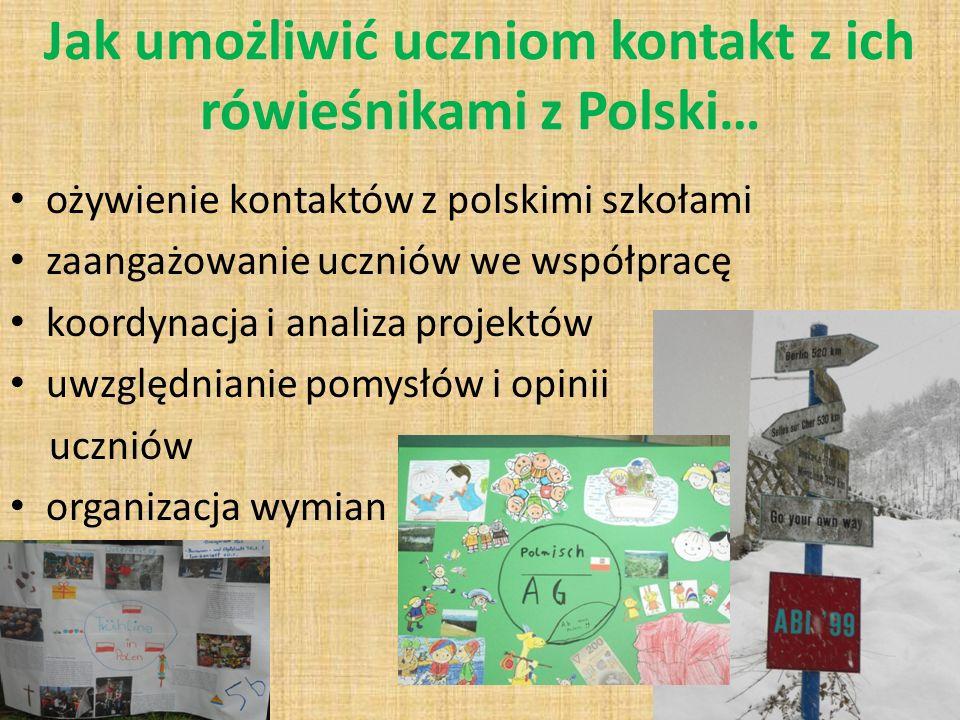 Jak umożliwić uczniom kontakt z ich rówieśnikami z Polski…