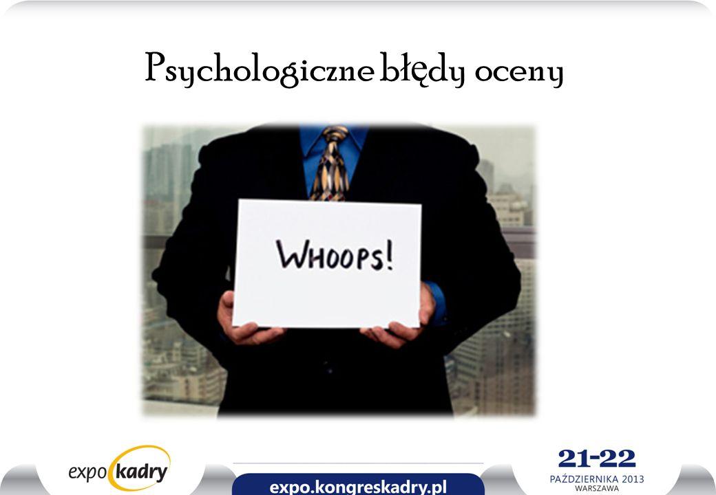 Psychologiczne błędy oceny