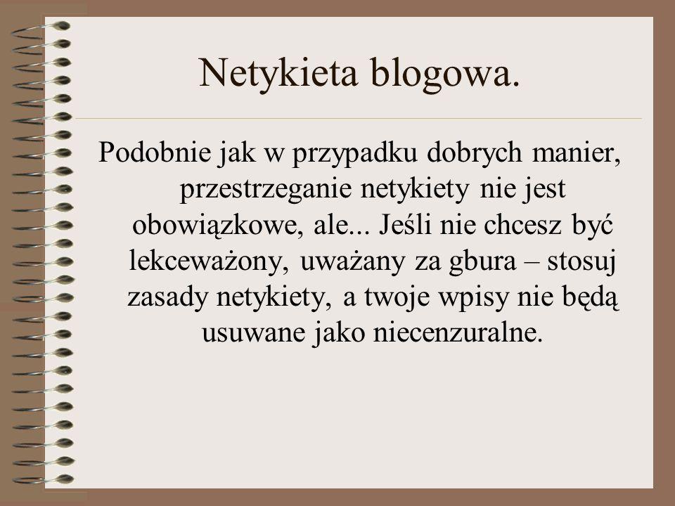 Netykieta blogowa.