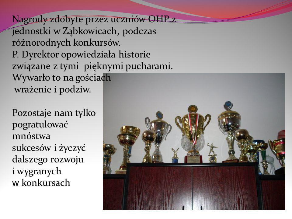 Nagrody zdobyte przez uczniów OHP z jednostki w Ząbkowicach, podczas różnorodnych konkursów.