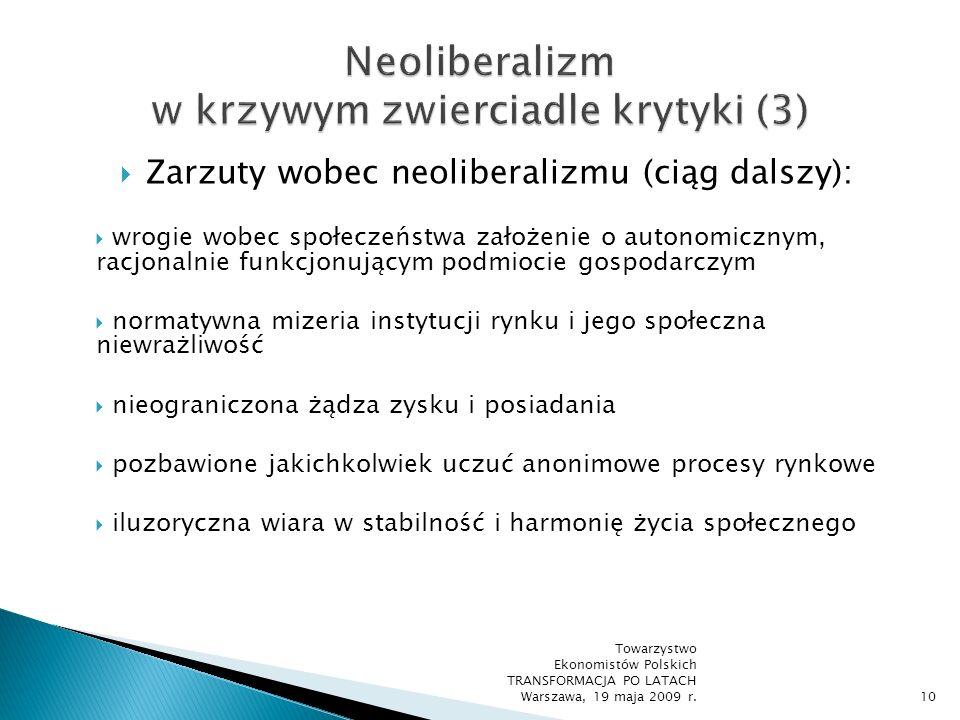 Neoliberalizm w krzywym zwierciadle krytyki (3)