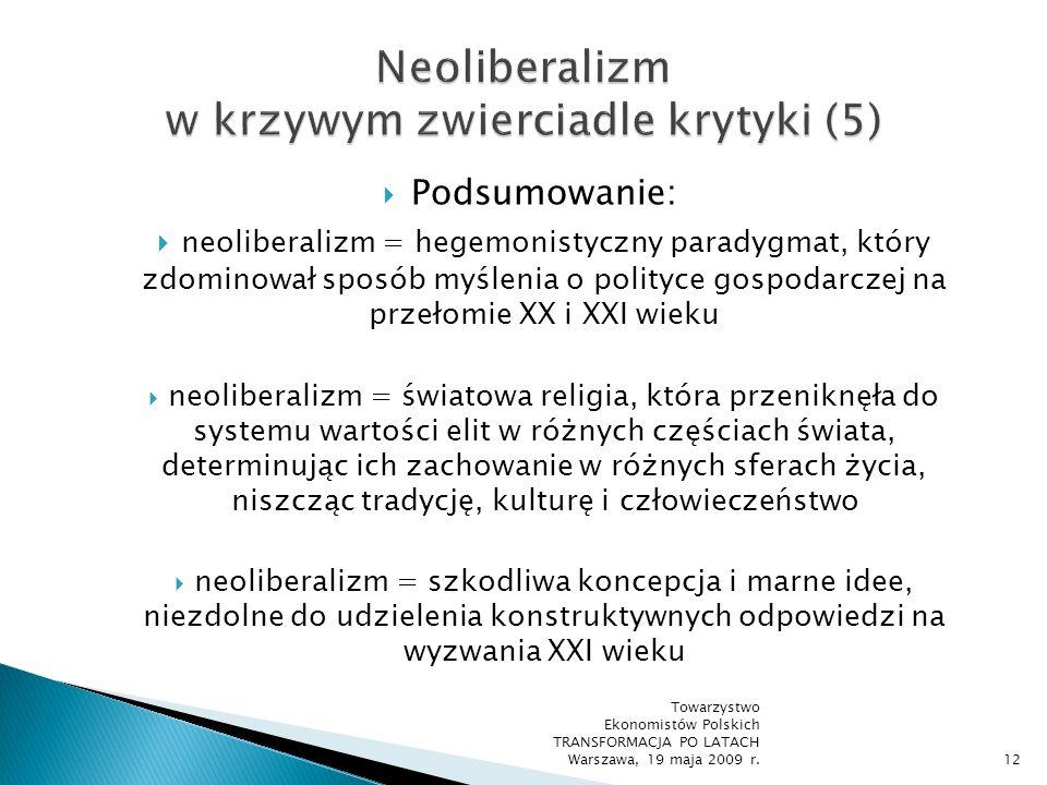 Neoliberalizm w krzywym zwierciadle krytyki (5)