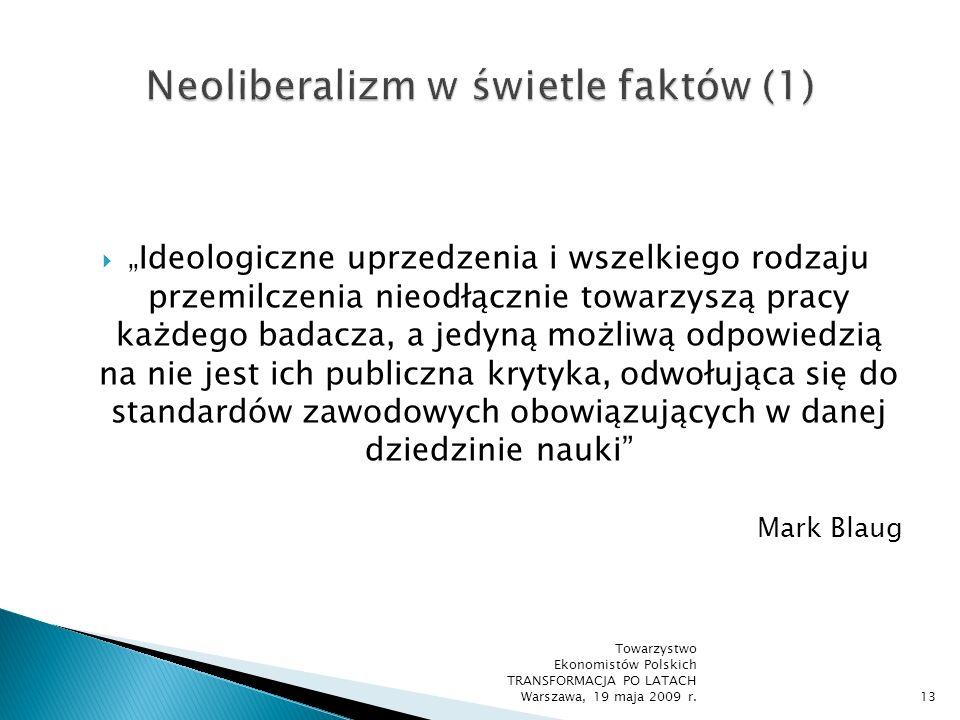 Neoliberalizm w świetle faktów (1)