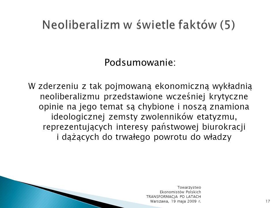 Neoliberalizm w świetle faktów (5)