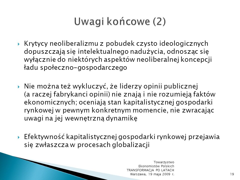 Uwagi końcowe (2)