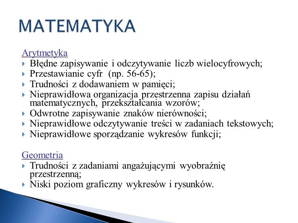 MATEMATYKA Arytmetyka