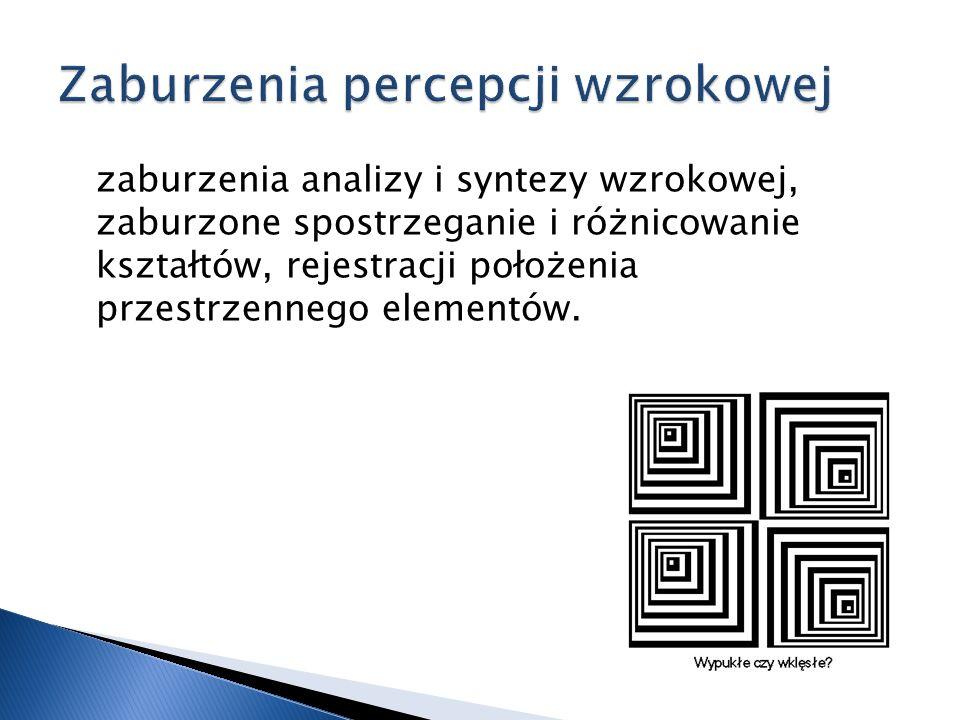 Zaburzenia percepcji wzrokowej