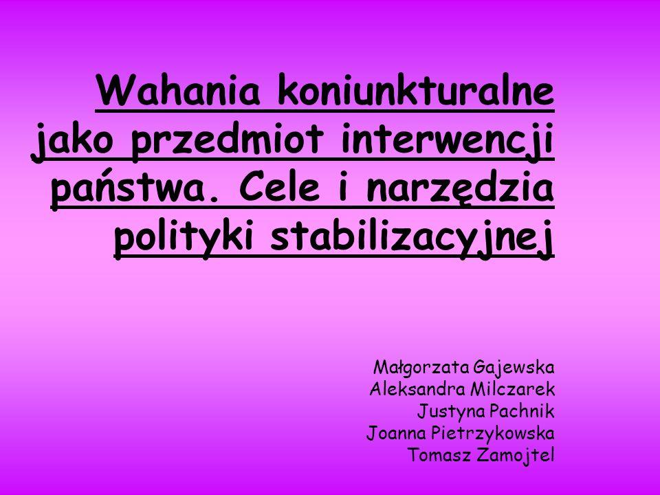Wahania koniunkturalne jako przedmiot interwencji państwa