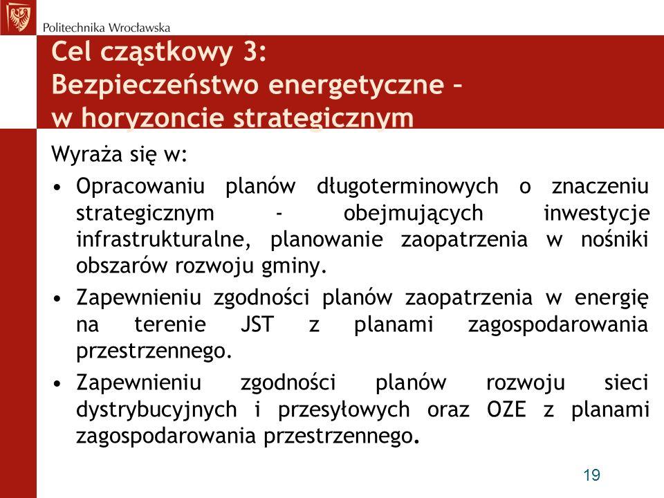 Cel cząstkowy 3: Bezpieczeństwo energetyczne – w horyzoncie strategicznym